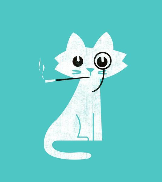 Aristo-Cat Art Print by Budi Satria Kwan | Society6