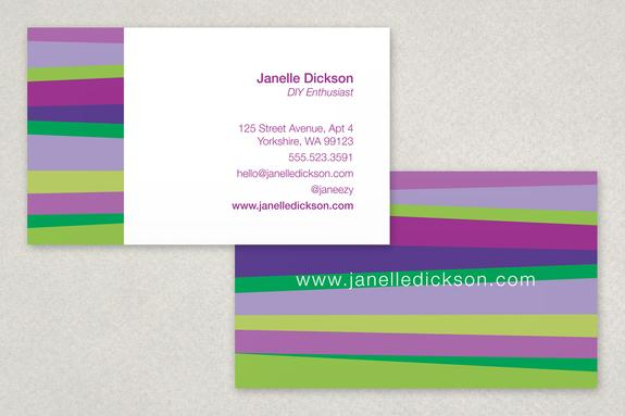 Asymmetric Striped Business Card Template Sample | Inkd