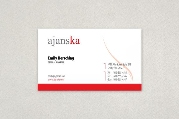 Universal Modern Business Card Template Sample | Inkd #133831 On