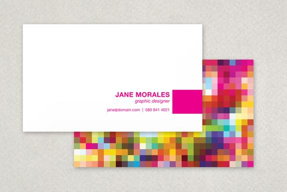 Pixel Business Card Template Sample | Inkd