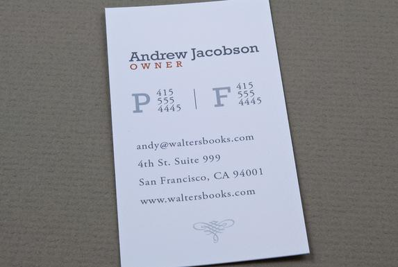 Bookstore Business Card Template Sample | Inkd