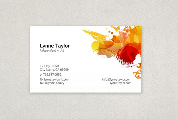 Freelance Artist Business Card Template Sample
