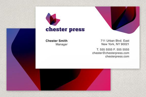 Chester Press Printing Business Card Template Sample | Inkd
