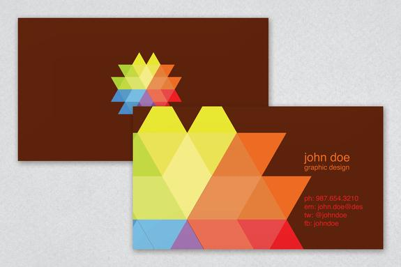 Vivid Design Business Card Template Sample | Inkd