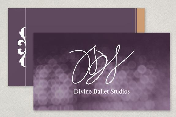 Elegant Ballet Business Card Template Sample | Inkd