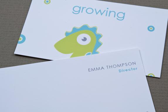Children's Daycare Business Card Template Sample   Inkd