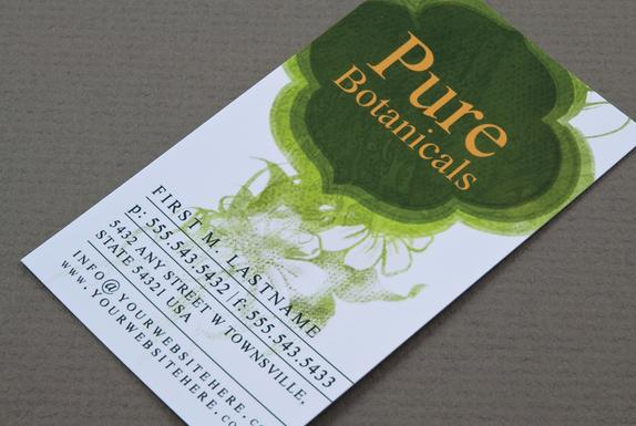 Organic Cosmetics Business Card Template Sample | Inkd