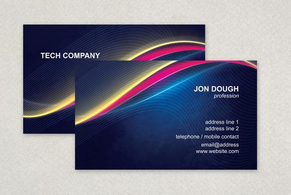 Tech Business Card Template Sample | Inkd