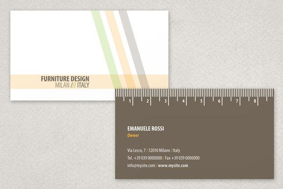 Modern Furniture Design Business Card Template Sample