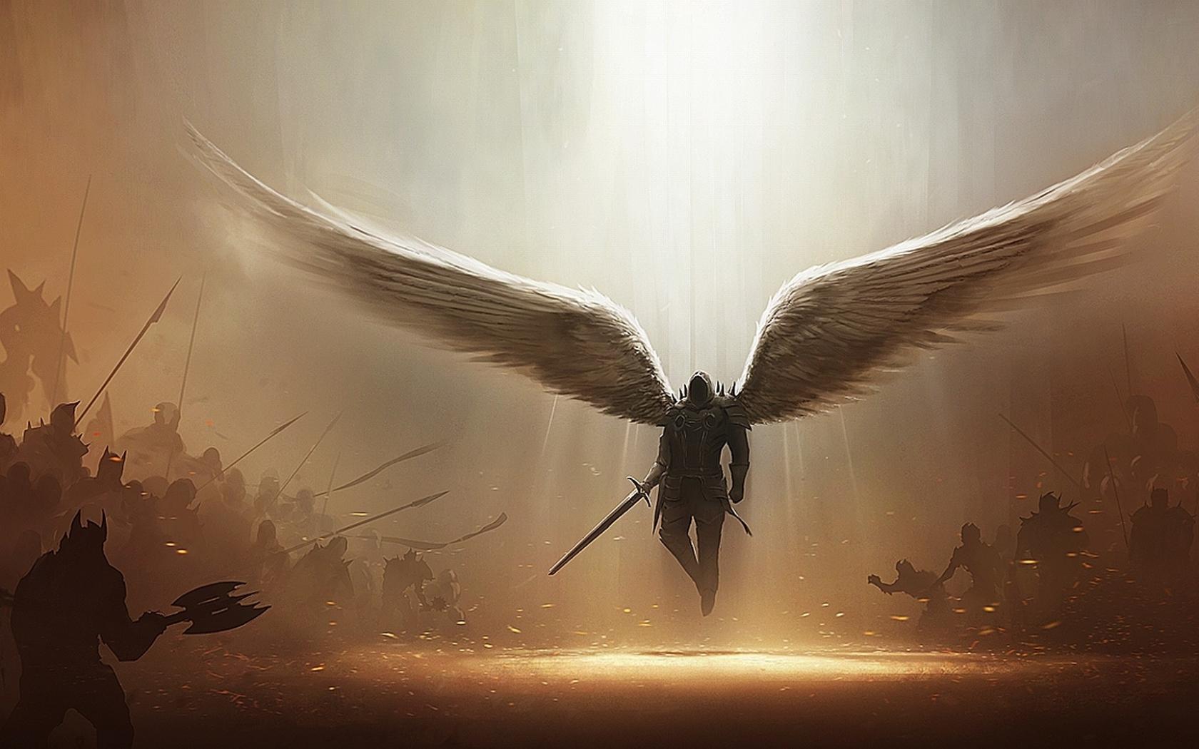 Télécharger Fonds d'écran, télécharger 1680x1050 ailes d'origine armes diablo légende armure Tyrael Diablo III oeuvre guerriers archange épées 19 Fond d'écran Télécharger Fonds d'écran gratuits-