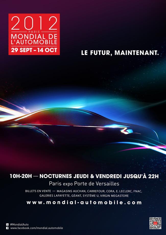 L'affiche officielle dévoilée ! - Mondial de l'Automobile 2012