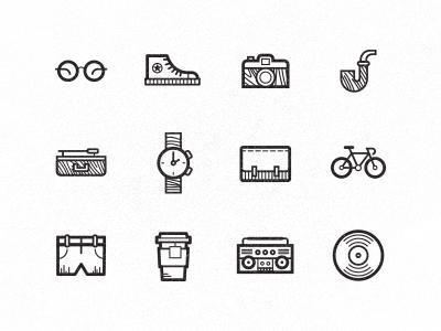 Hipster icons by Floris Voorveld