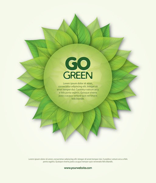 Go Green Poster Vector Graphic - Free Download