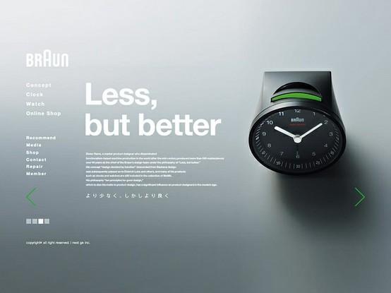 Design - Web/apps / Braun, website