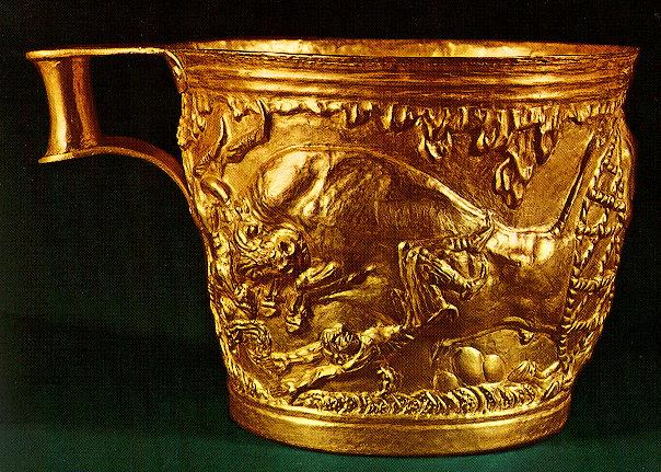 The Vapheio cups - NATIONAL ARCHAEOLOGICAL MUSEUM OF ATHENS - PHOTO