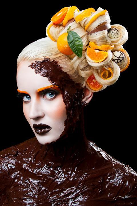 Alimentaires Inspired Make-up & Hair Designs sur le réseau