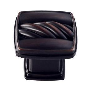 Vigo Single Rope 1.125 in. Cabinet Knob in Dull Burnished Antique Copper VG18017DBAC at The Home Depot