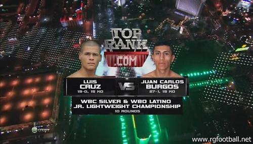 Бокс. Луис Круз - Хуан Карлос Бургос / Luis Cruz vs Juan Carlos Burgos (12.11.2011) НТВ+ HDTVRip - Спорт @ EX.UA