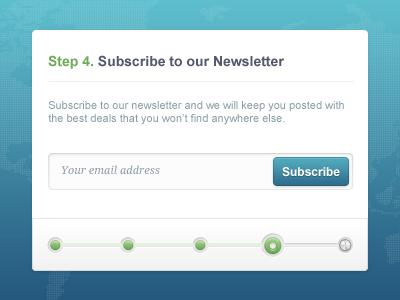 Step 4 Subscribe Form by Ionut Zamfir