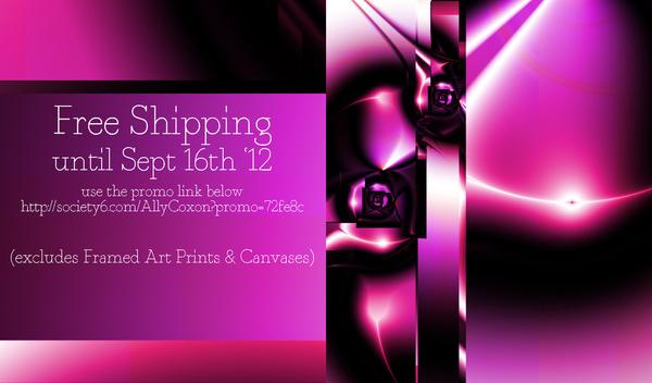 FREE SHIPPING PROMOTION. by Ally Coxon | Society6
