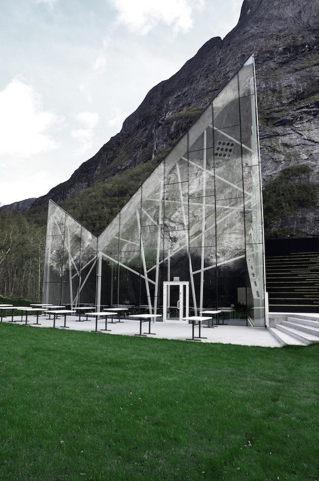 Stunning Glass Visitor's Center for Norway's Trollwall | Inthralld