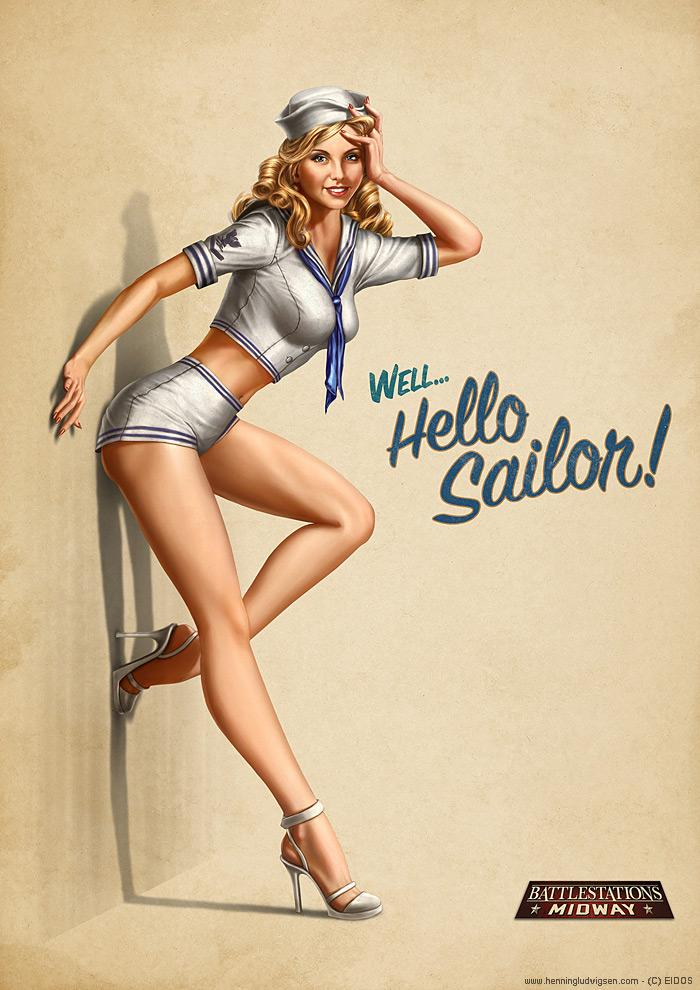 Battlestations Midway pin-up 2 by *henning