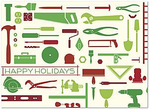 Holiday Tools Card | Construction Holiday Cards | Posty Cards, Inc.