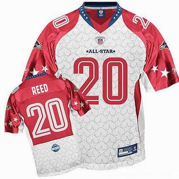 ... nfl baltimore ravens ed reed jersey 20 white 2009 pro bowl jersey  onlinep74831 ... 724a059cf
