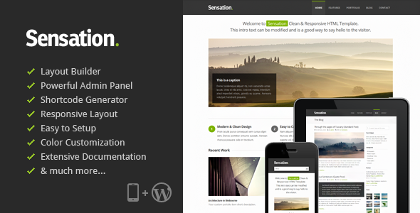 WordPress - Sensation - Responsive WordPress Theme | ThemeForest