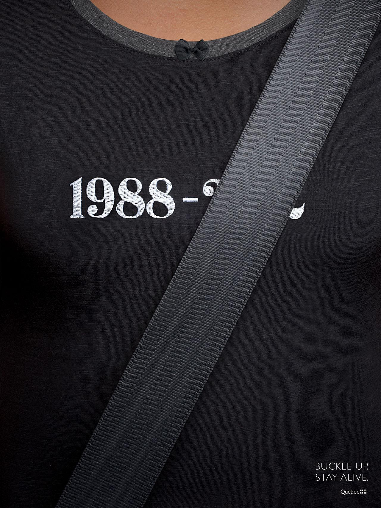 Quebec Automobile Insurance Society: Seatbelts, Black | Ads of the World™