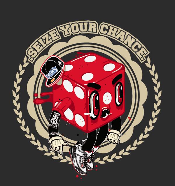 T-shirt SEIZE YOUR CHANCE ? - Feniks Grafix - graphiste / designer / directeur artistique / freelance / Paris | Feniks Grafix