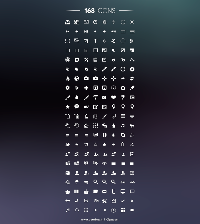 168 Free UI Icons - 365psd