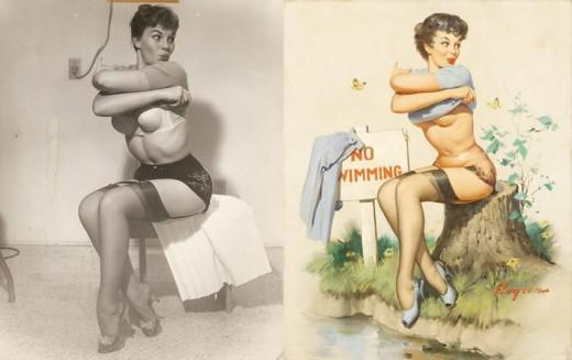 Pin-Up Girls Before and After II, 1950s | Retronaut