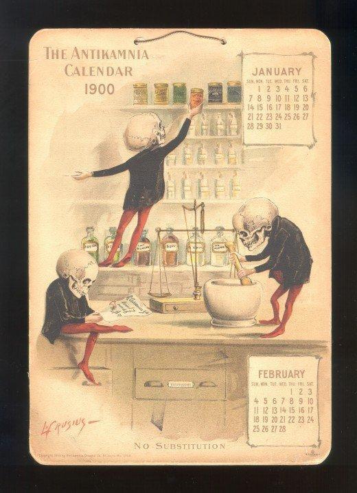Antikamnia Chemical Company Calendars, 1899 / 1900 | Retronaut