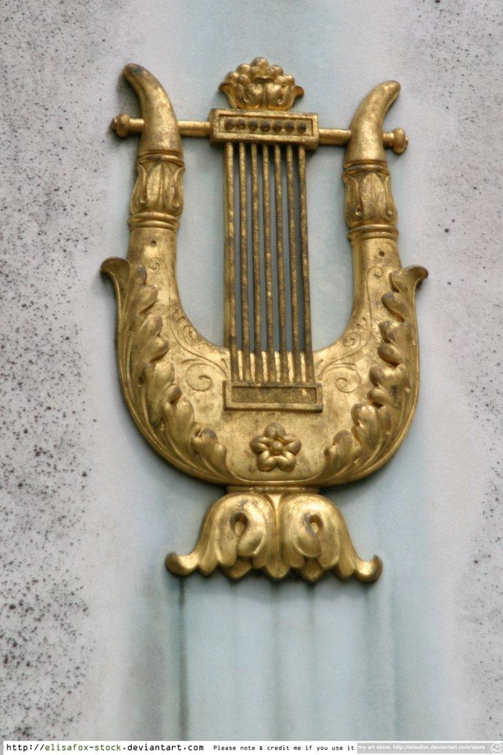 stock: golden harp by ~elisafox-stock