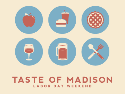 Taste of Madison Icons by Justin Blumer