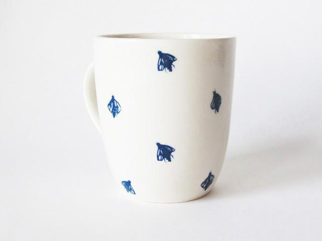 Bailey Doesn't Bark - Blue Bugs Mug - Bee