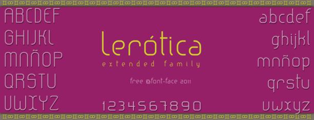 Lerótica, typeface para el diseño gráfico y web | Webfont gratis