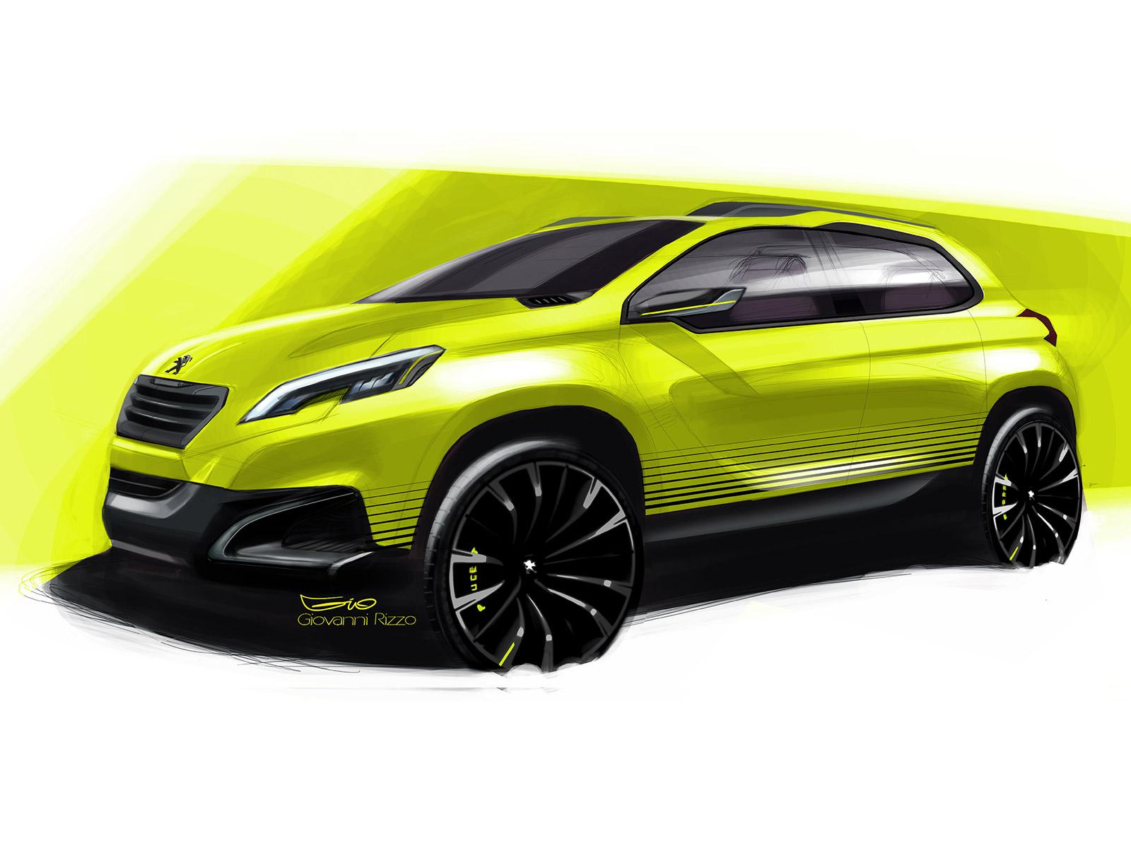 Peugeot 2008 Concept - Design Sketch - Car Body Design