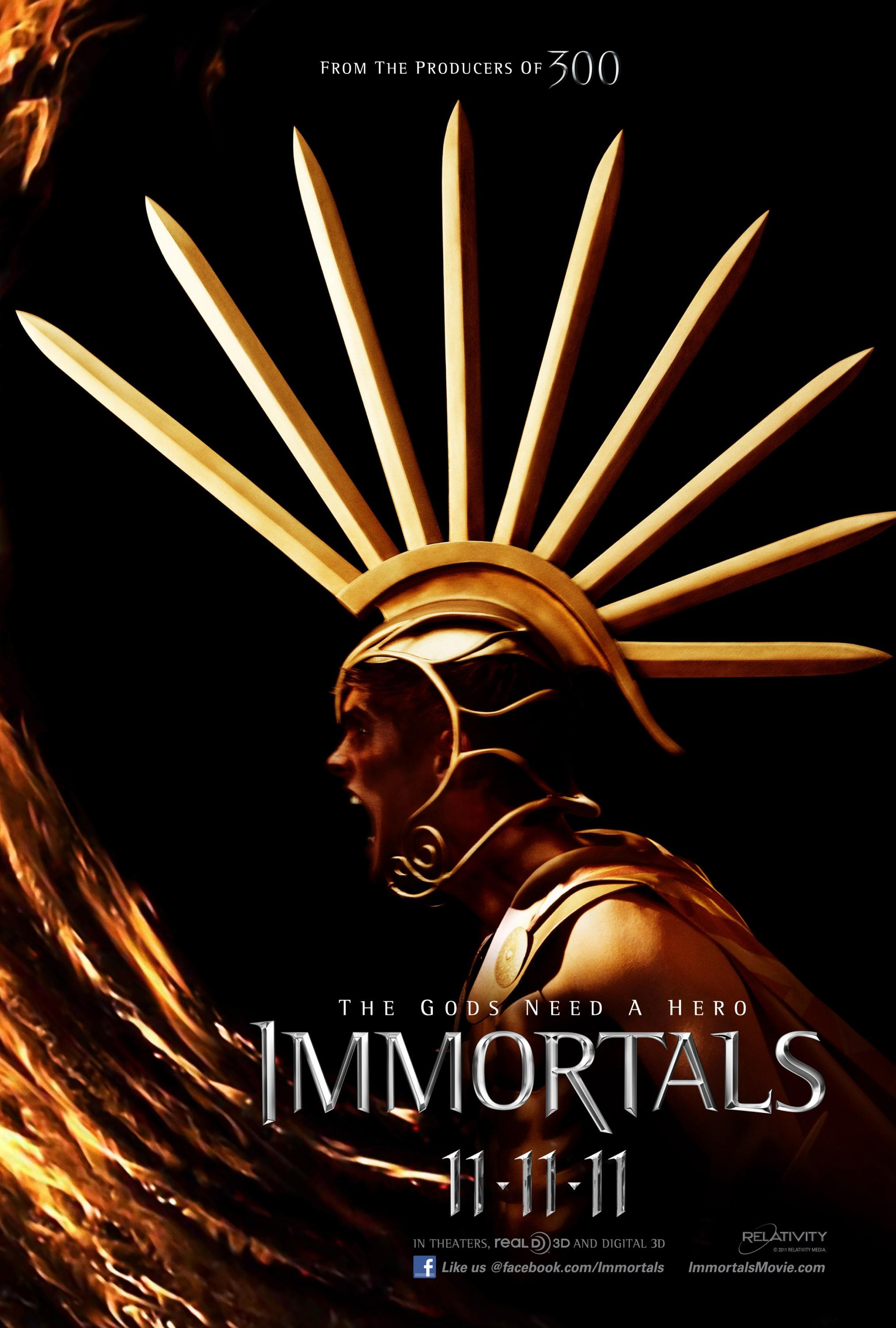 Immortals: Mega image au format Movie Poster - Internet Movie Poster Gallery Prix
