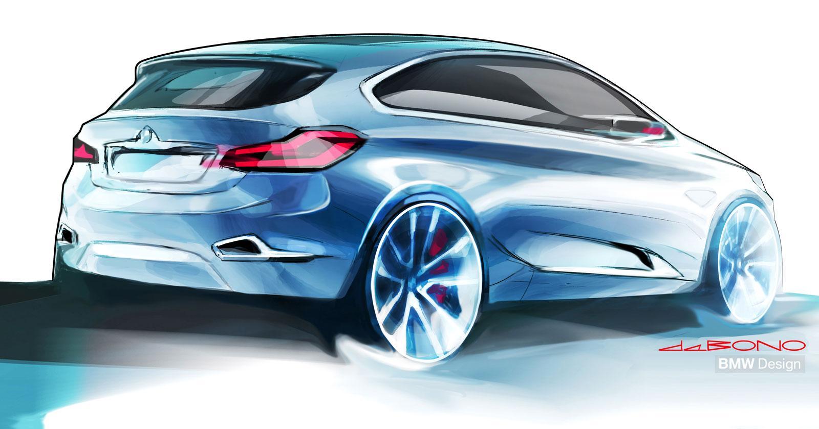 BMW Concept Active Tourer - Design Sketch - Car Body Design