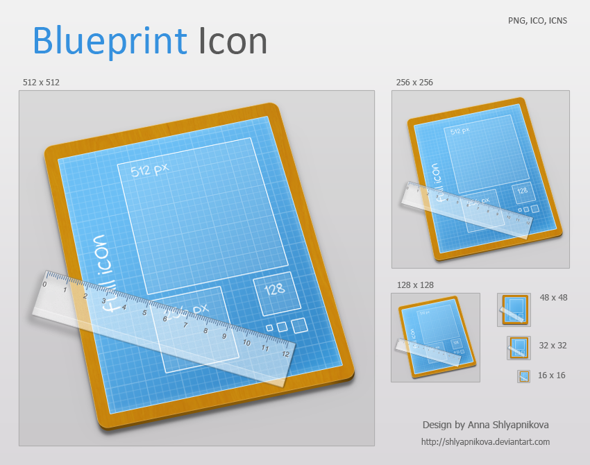 Blueprint Icon by ~shlyapnikova