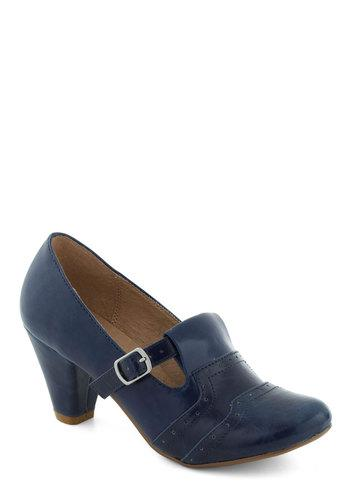 Class Treasurer Heel in Blue | Mod Retro Vintage Heels | ModCloth.com