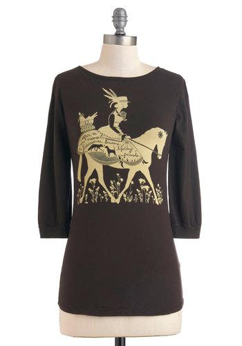 Life's a Joyride Top | Mod Retro Vintage Long Sleeve Shirts | ModCloth.com