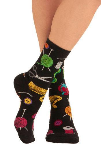 Going Sew to Toe Socks | Mod Retro Vintage Socks | ModCloth.com