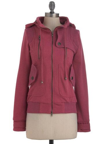 Leipzig Hoodie in Rose | Mod Retro Vintage Jackets | ModCloth.com
