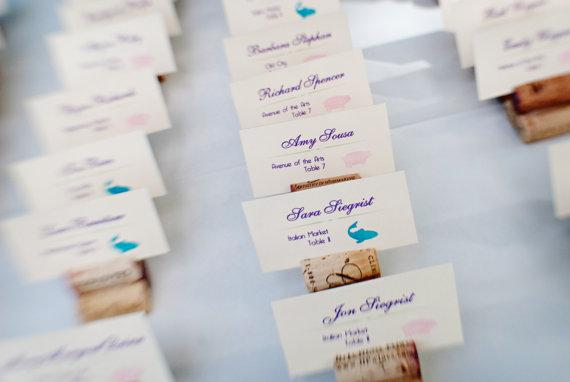 Cork Place Card Holders Perfect for vineyard wedding 25 by Recork