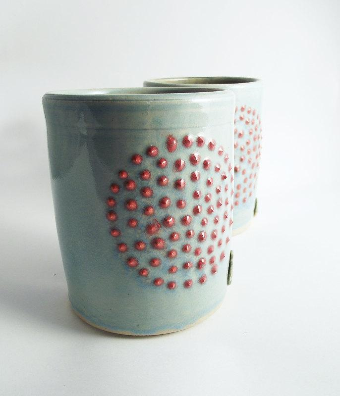 MADE TO ORDER 2 Dots Pottery Tumbler Stoneware by lofficina