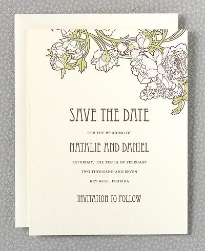 wedding stationery / pretty nouveau peonies