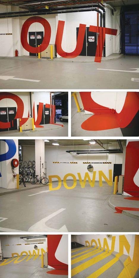 Weird & Wonderful Wayfinding: 3D Parking Garage Signage | Designs & Ideas on Dornob